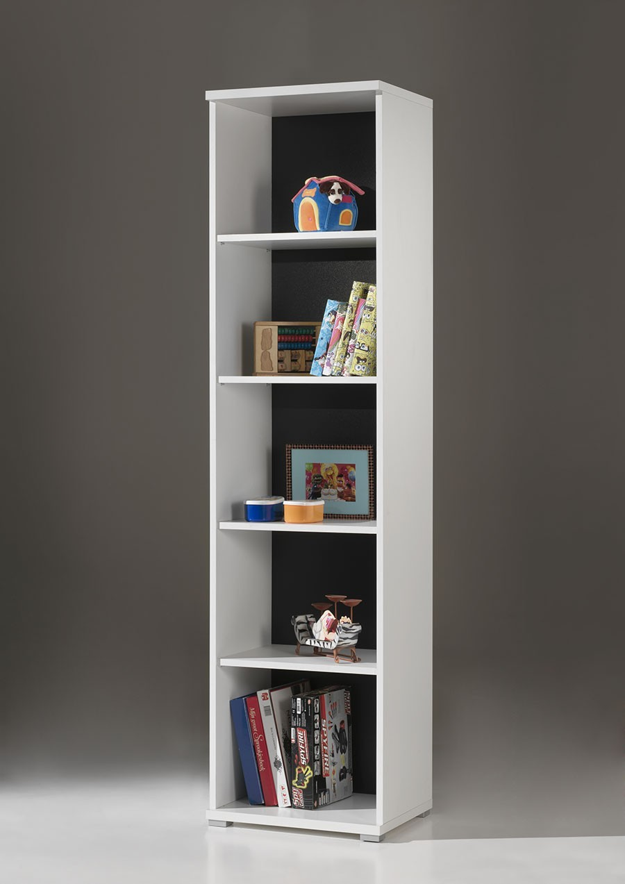 meuble bibliotheque colonne blanc joaquim. Black Bedroom Furniture Sets. Home Design Ideas