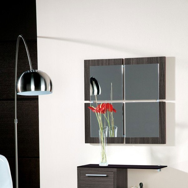 meuble entree miroir cedre gris magritte zd1 meu dentr. Black Bedroom Furniture Sets. Home Design Ideas