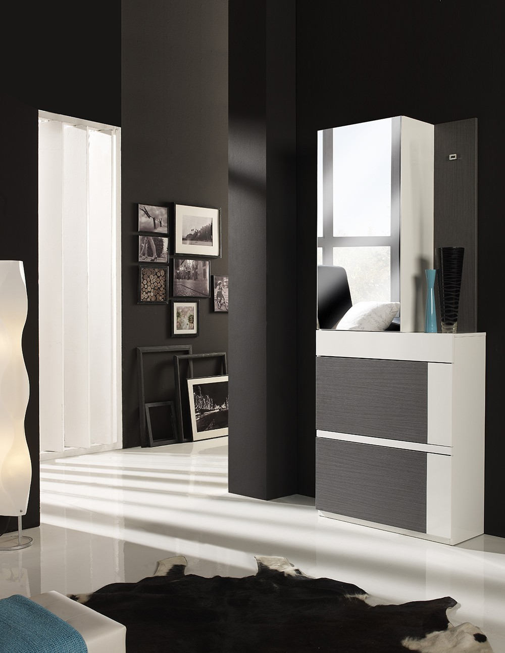 meuble entree moderne chaussures diego zd1 meu dentr. Black Bedroom Furniture Sets. Home Design Ideas