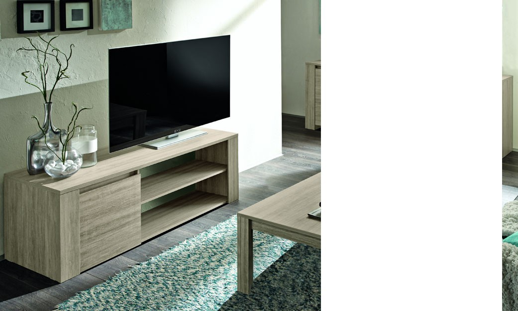 meuble tv ch ne gris contemporain argeles. Black Bedroom Furniture Sets. Home Design Ideas