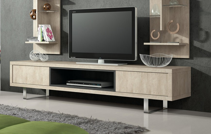 meuble tv contemporain damocles zd1 m tv c. Black Bedroom Furniture Sets. Home Design Ideas
