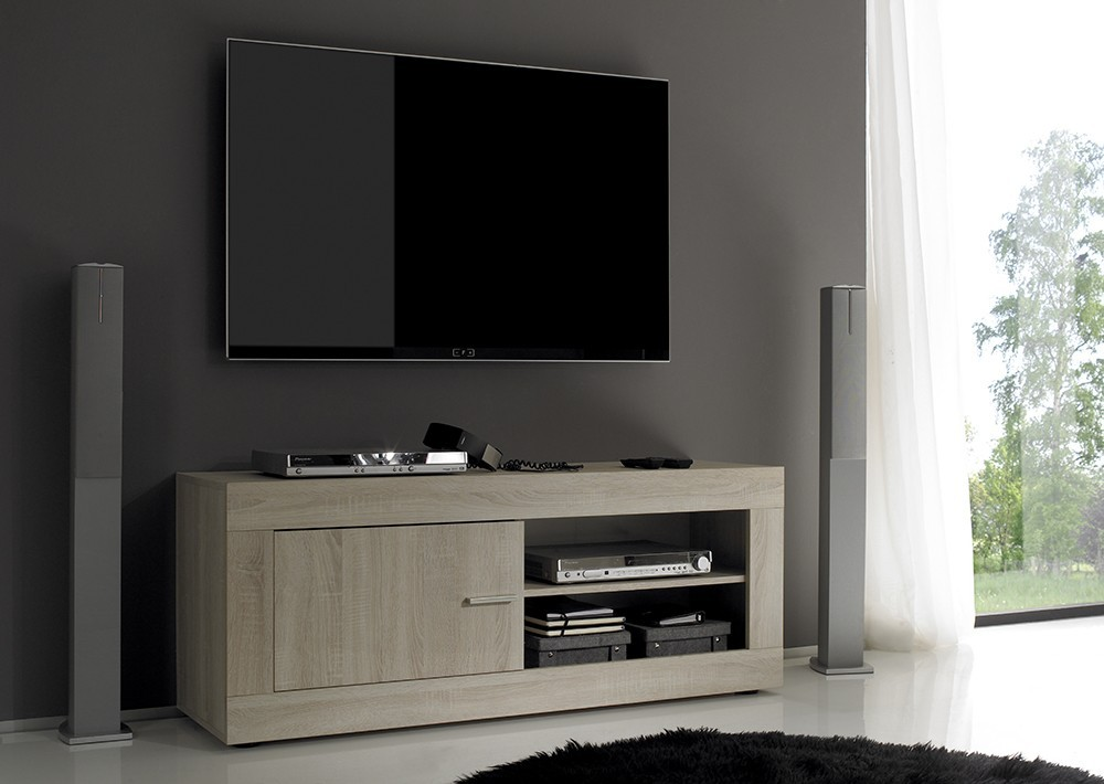 Meuble tv contemporain rustica zd1 m tv c for Meuble cache tv