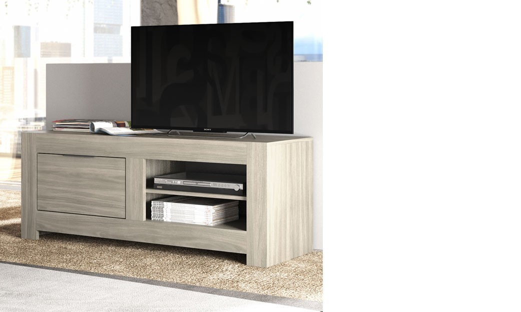 meuble tv contemporain couleur ch ne clair trevise. Black Bedroom Furniture Sets. Home Design Ideas