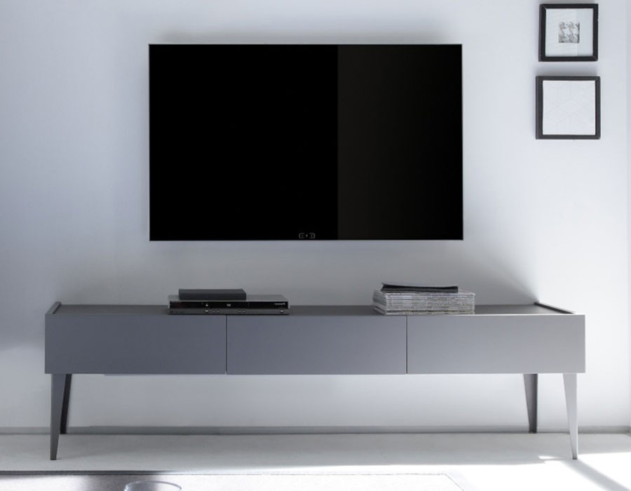 Meuble tv salon m tv c 105 for Meuble tv blanc gris