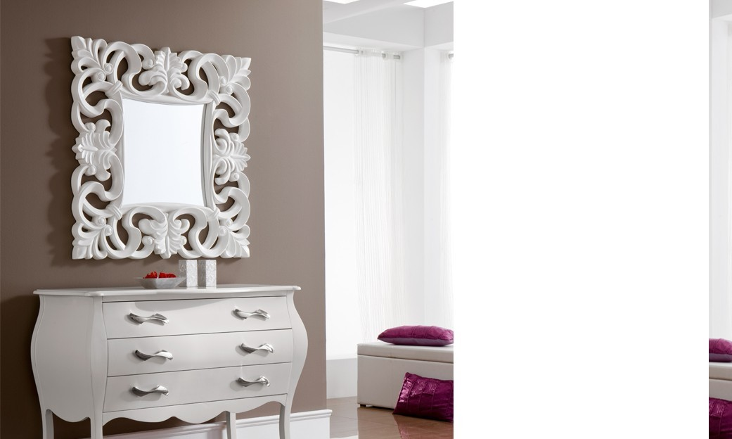 Miroir design carré SALINA, disponible en 4 coloris