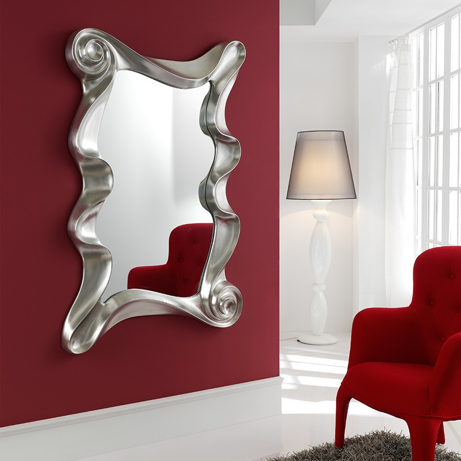 Miroir mural design laque blanc orta zd1 mir d for Miroir design pour salon