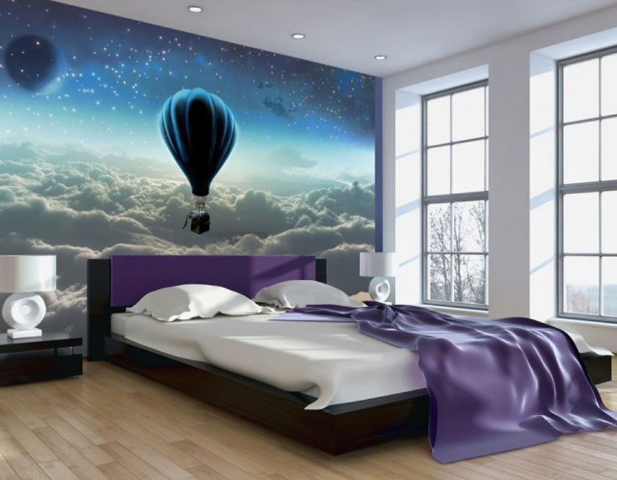 papier peint panoramique paysage montgolfiere pp03. Black Bedroom Furniture Sets. Home Design Ideas