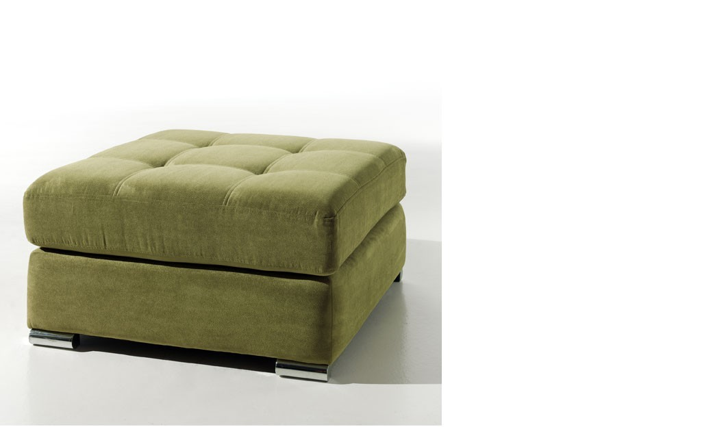 pouf design en tissu vert talara. Black Bedroom Furniture Sets. Home Design Ideas