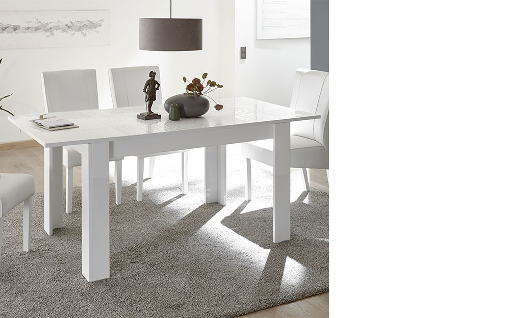 Table extensible blanche design   HcommeHome