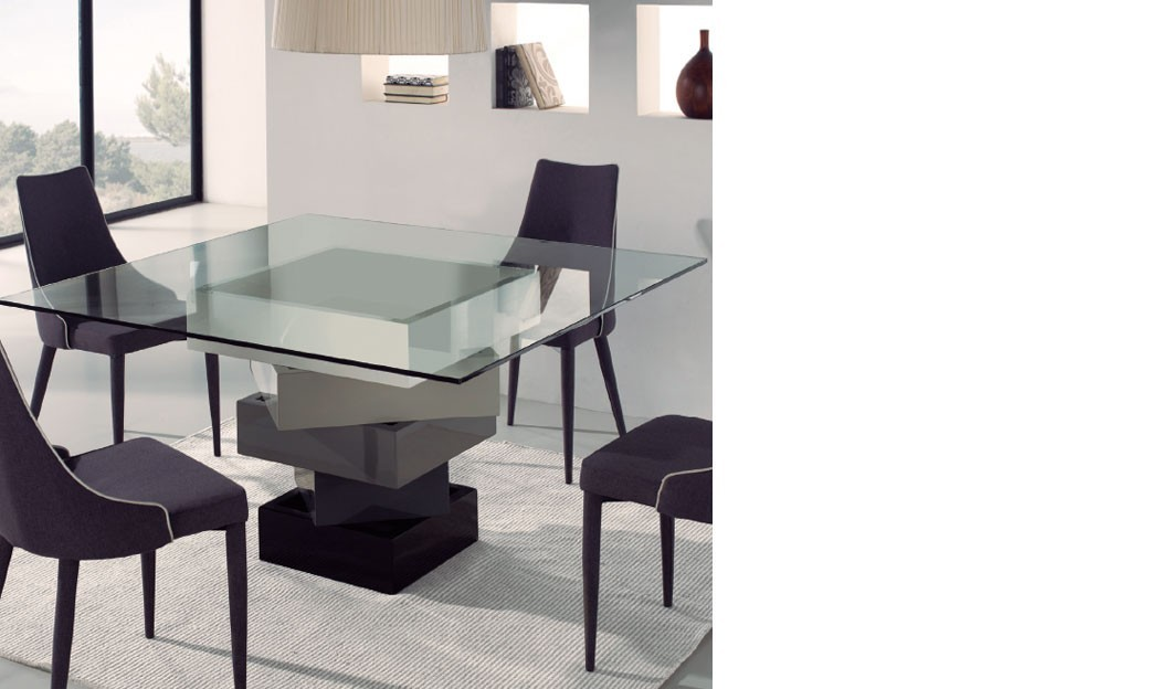 table carree salle a manger design table salle a manger carree avec rallonge design tables. Black Bedroom Furniture Sets. Home Design Ideas