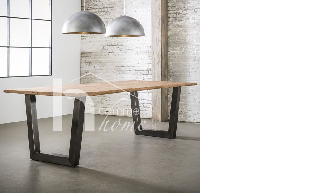 table manger industriel noir. Black Bedroom Furniture Sets. Home Design Ideas