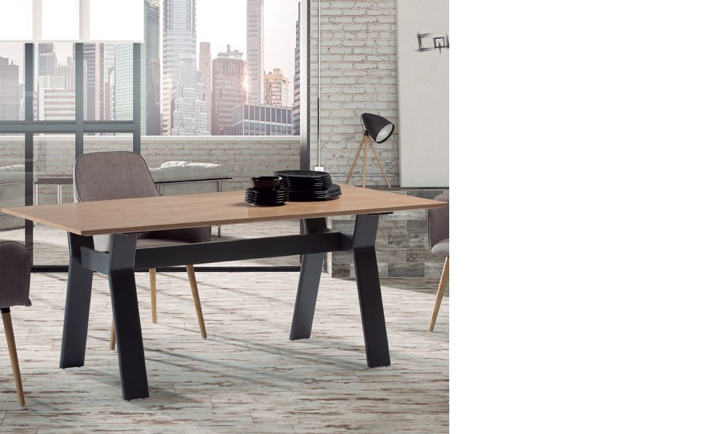 table manger moderne ch ne et anthracite torino. Black Bedroom Furniture Sets. Home Design Ideas