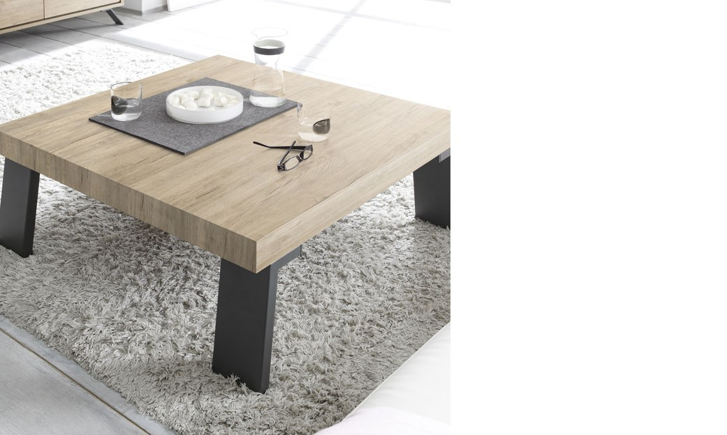 Table basse carr e contemporaine couleur bois baltimore - Table basse contemporaine ...
