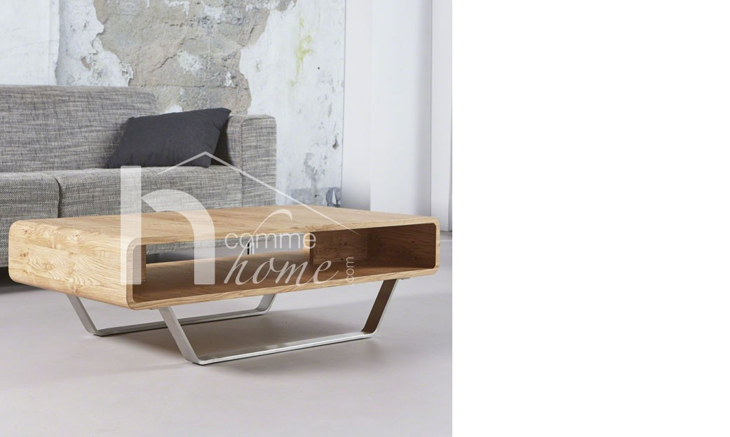 table basse en ch ne clair moderne cano. Black Bedroom Furniture Sets. Home Design Ideas