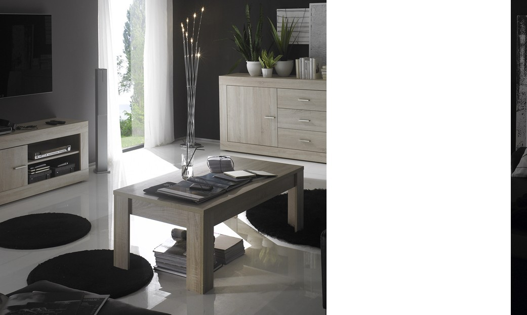 Table basse contemporaine ROMINA, coloris chêne Samoa
