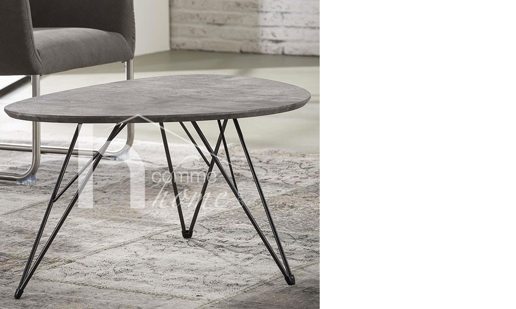 Charmant Table De Salon Design Effet Béton Gris WALLACE ...