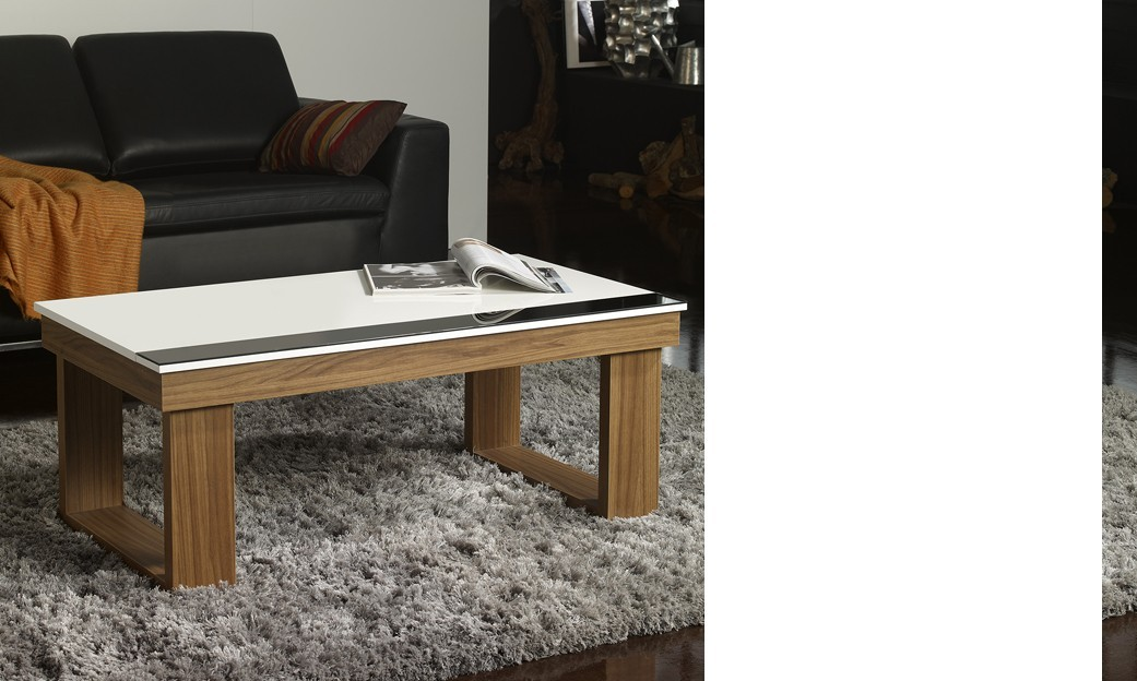 Table basse relevable contemporaine JASPER, disponible en 2 coloris