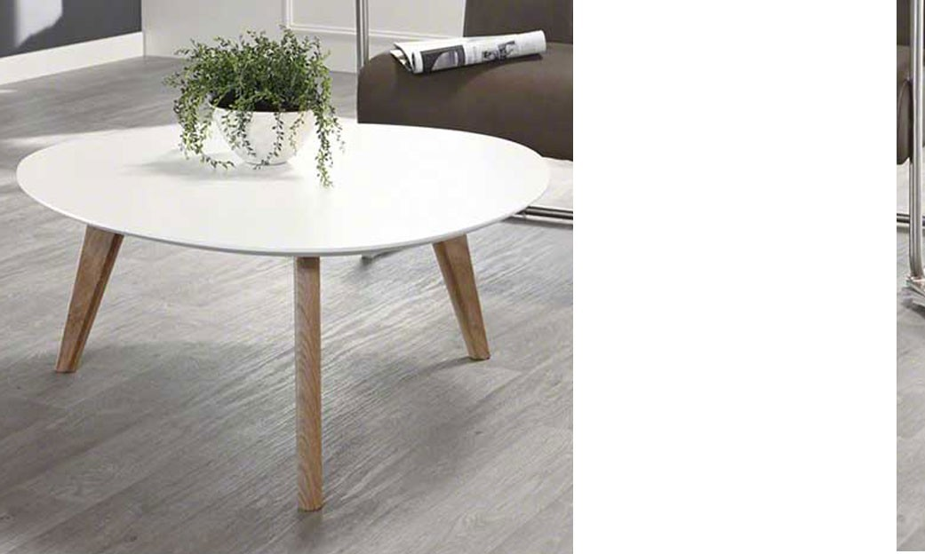 Table basse blanche scandinave freya for Table basse scandinave blanche