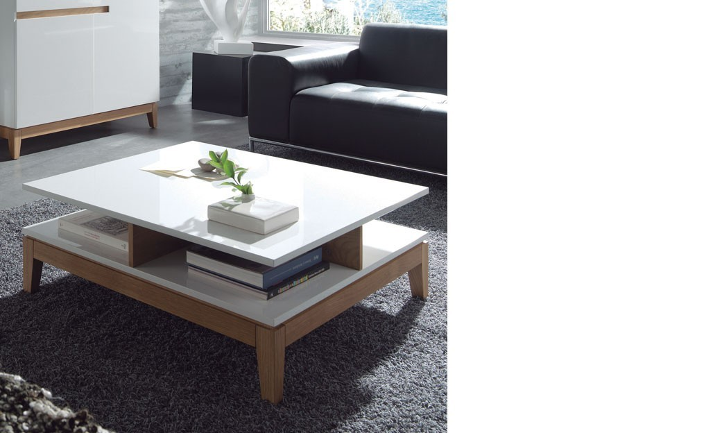 table basse blanc et chene conceptions de maison. Black Bedroom Furniture Sets. Home Design Ideas
