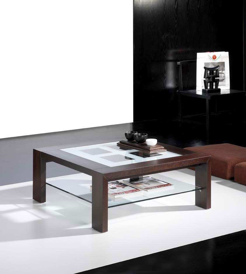 Table basse wenge dounia zd1 tbas c - Table basse contemporaine en verre ...