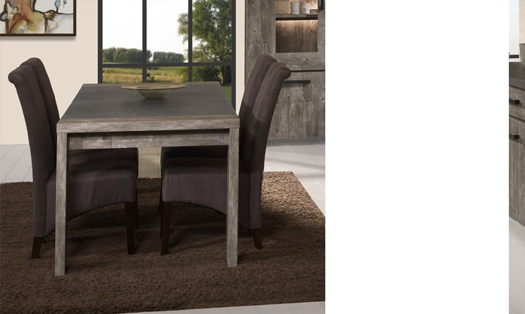 table de salle manger rectangulaire couleur ch ne vieilli contemporain memphis. Black Bedroom Furniture Sets. Home Design Ideas