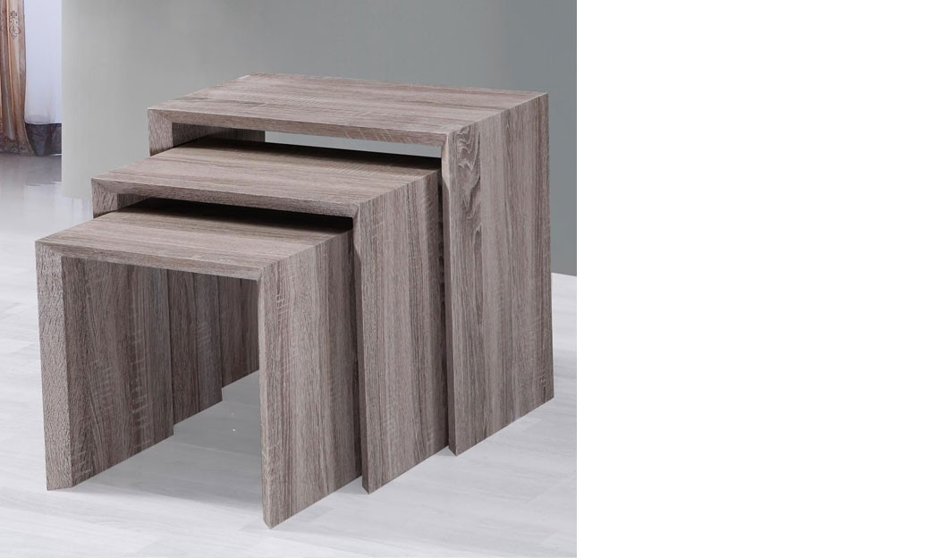 Table d 39 appoint gigogne ch ne fonc - Table d appoint contemporaine ...
