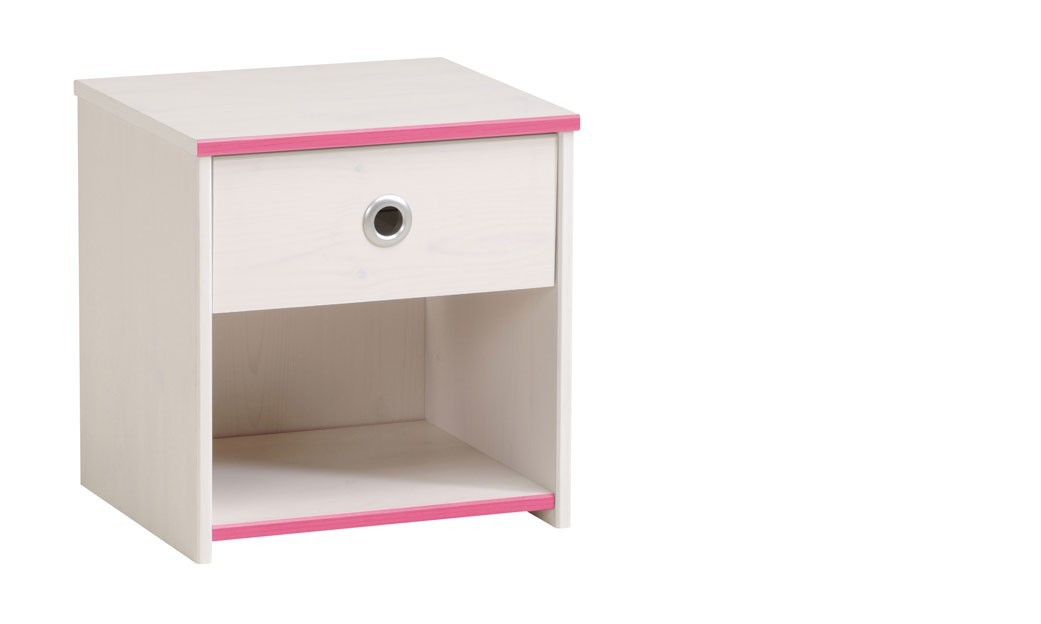 table de chevet enfant mixte r versible rose ou bleu camille. Black Bedroom Furniture Sets. Home Design Ideas