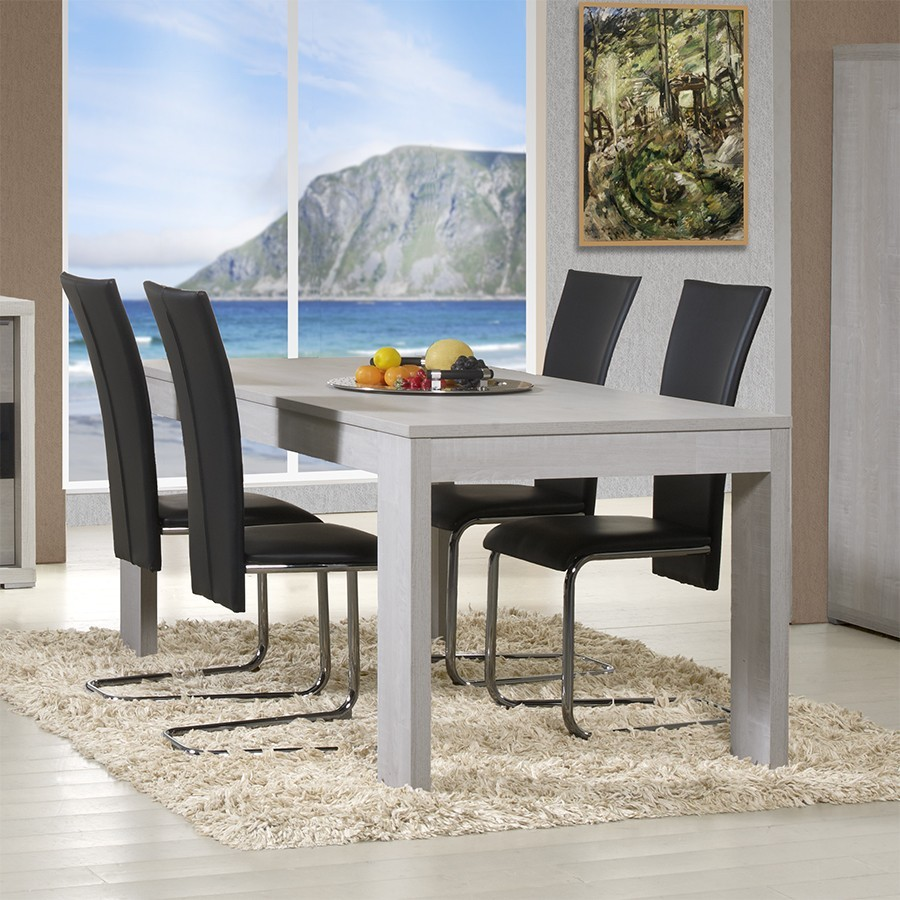 Table de salle a manger rectangulaire contemporaine for Salle a manger contemporaine en chene