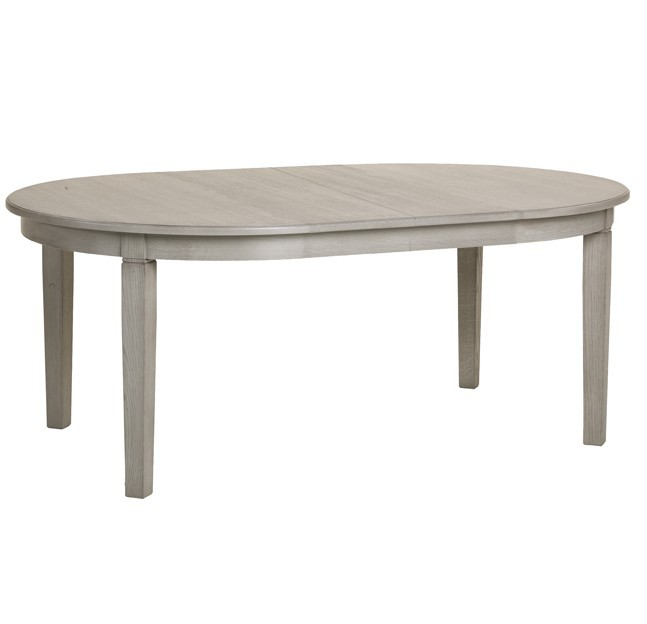 Table ovale contemporaine judith zd1 tab o c - Table grise avec rallonge ...