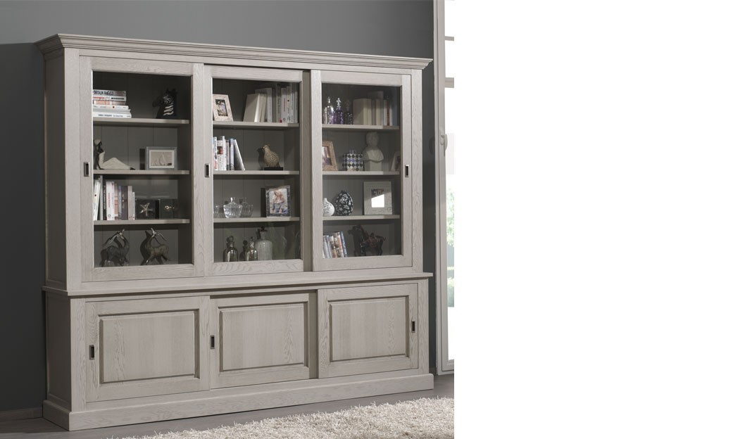 vaisselier contemporain ch ne gris madison. Black Bedroom Furniture Sets. Home Design Ideas