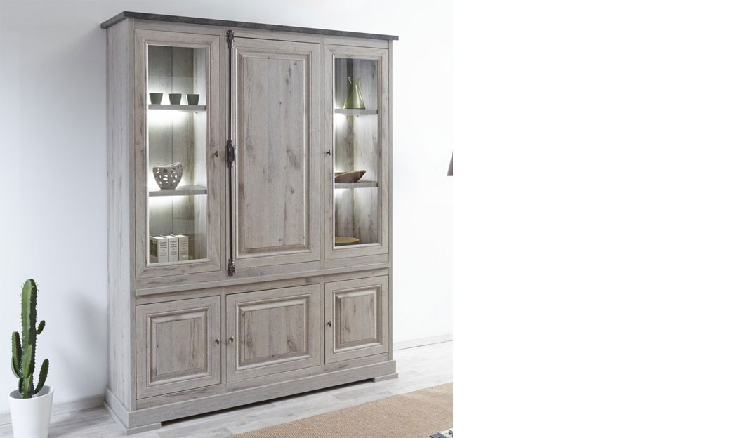 vaisselier contemporain coloris ch ne gris et couleur. Black Bedroom Furniture Sets. Home Design Ideas
