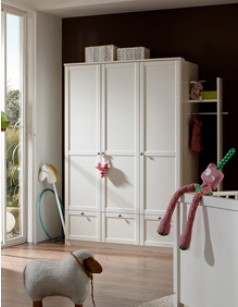 armoire enfant blanche contemporaine raphael 2 ou 3 portes tiroirs. Black Bedroom Furniture Sets. Home Design Ideas