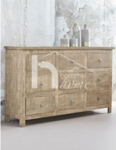 Buffet contemporain en bois massif madena - Buffet bois massif contemporain ...