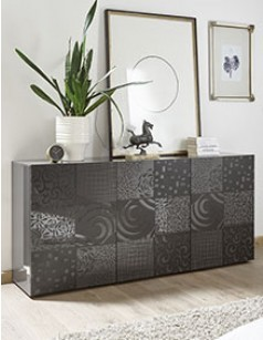 Buffet design anthracite laqué ELDA 2
