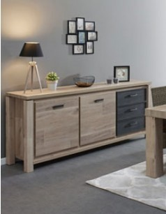 bahut et buffet design tendance au meilleur prix. Black Bedroom Furniture Sets. Home Design Ideas