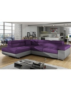 Canap d 39 angle convertible violet en tissu coral 7 - Canape d angle violet ...