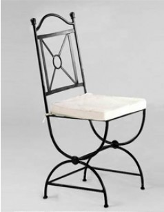 Chaise en fer forg graziella for Table et chaise de salle a manger en fer forge