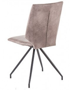 Chaise moderne taupe ou marron CINDY