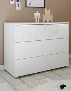 Commode design blanche MILENA 3