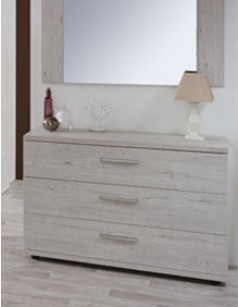 Commode contemporaine couleur bois blanc DIANE