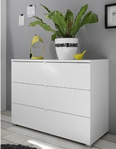 Commode blanche design LAVINA