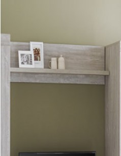 Etag re murale de salon contemporaine couleur ch ne gris - Etagere pas chere pour garage ...