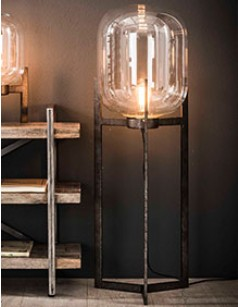 Lampadaire globe en verre design COURTNEY