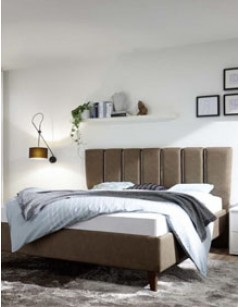 Lit adulte design marron en PU avec option coffre IGRID 3