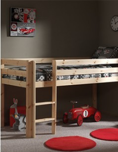 lit enfant sur lev en pin massif marilou. Black Bedroom Furniture Sets. Home Design Ideas