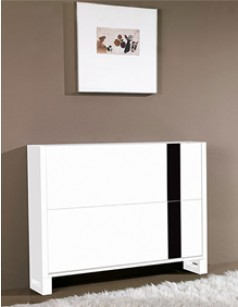meuble chaussures design laqu blanc et noir elias. Black Bedroom Furniture Sets. Home Design Ideas