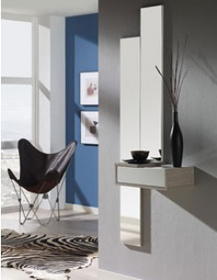 meuble d 39 entr e avec miroir contemporain titien. Black Bedroom Furniture Sets. Home Design Ideas