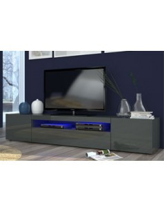 meuble tv design anthracite laqu avec led gatino 2. Black Bedroom Furniture Sets. Home Design Ideas