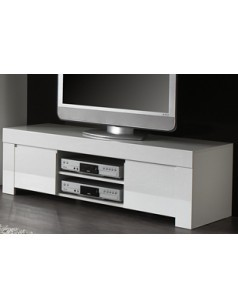 meuble tv design blanc laqu aphodite disponible en 2 dimensions - Meuble Tv Design Blanc Laque Aphodite
