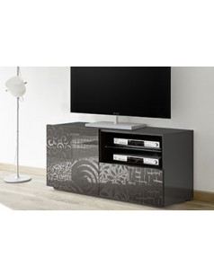 Petit meuble TV design anthracite ELDA 2